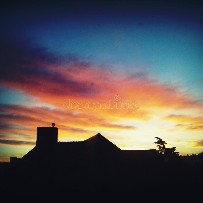 Puesta del sol intensa imágenes de archivo libres de regalías
