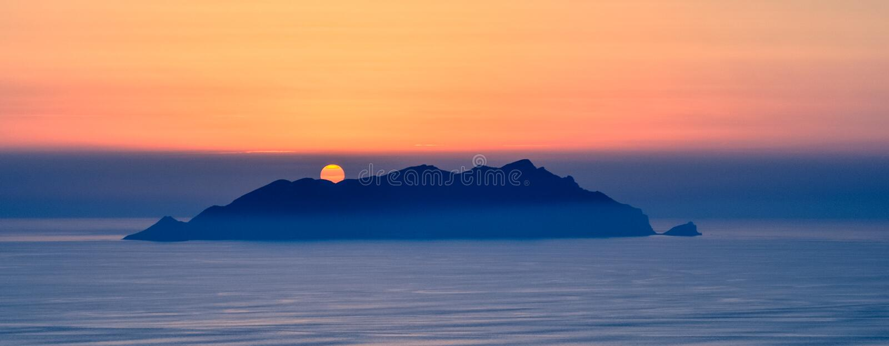 Puesta del sol Italia de Favignana imágenes de archivo libres de regalías