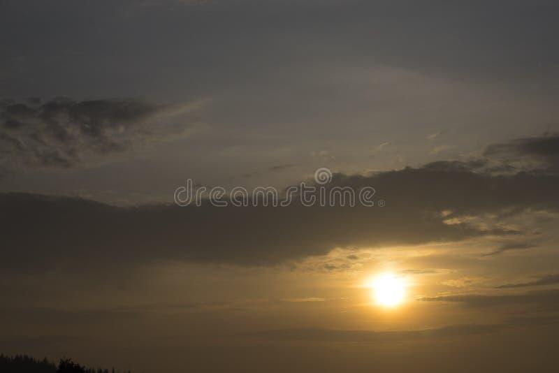 Puesta del sol lisa foto de archivo libre de regalías