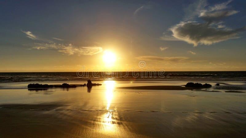 Puesta del sol mágica foto de archivo