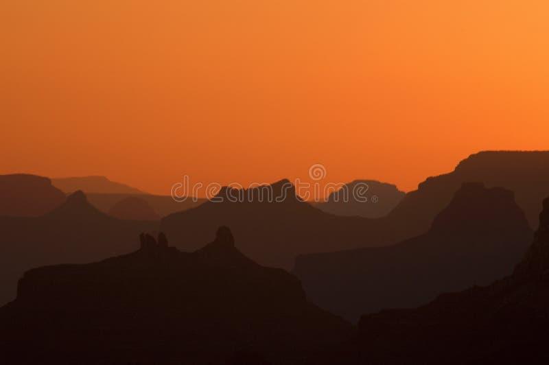 Puesta del sol magnífica imagen de archivo libre de regalías
