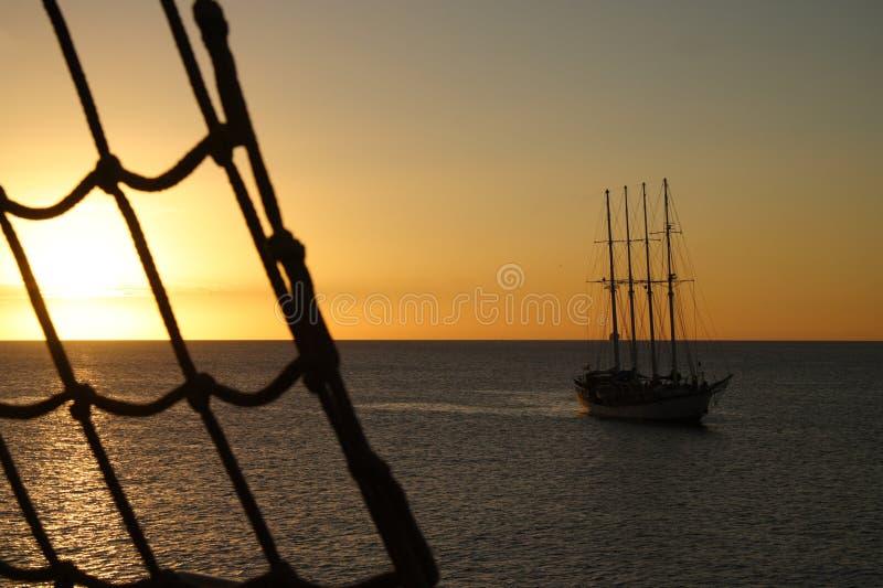Puesta del sol marítima fotografía de archivo