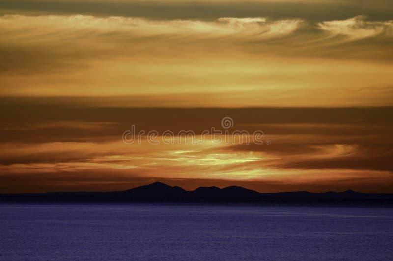 Puesta del sol Mornington, Victoria fotografía de archivo libre de regalías