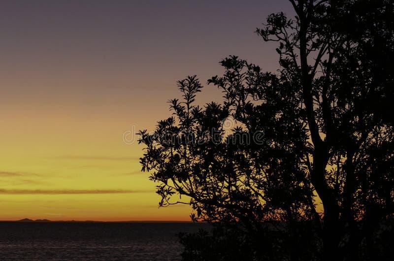 Puesta del sol Mornington, Victoria imagen de archivo libre de regalías