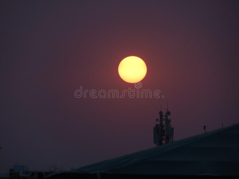 Puesta del sol natural foto de archivo