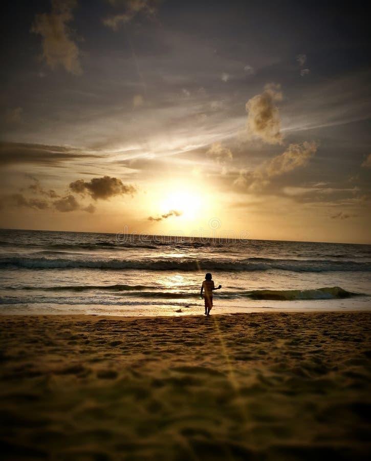 Puesta del sol Negombo imágenes de archivo libres de regalías
