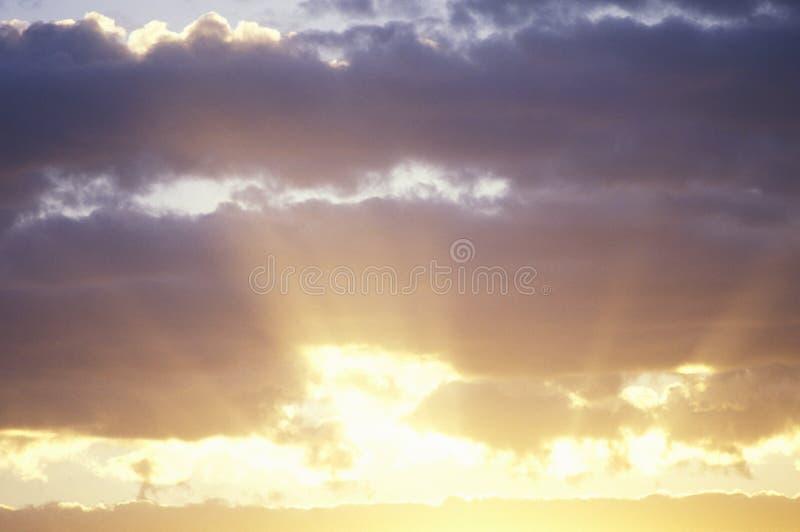 Puesta del sol, New México fotografía de archivo libre de regalías