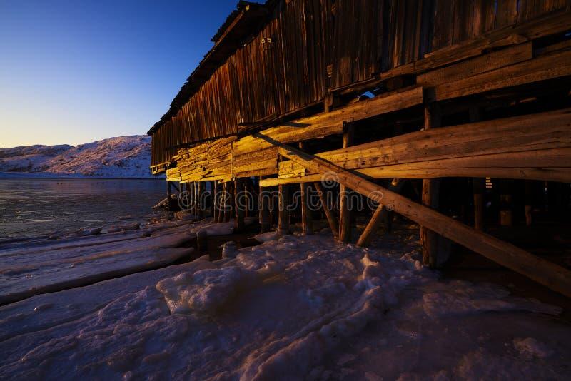 Puesta del sol del Océano ártico fotografía de archivo libre de regalías