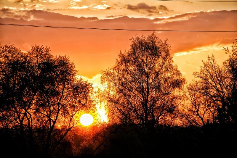 Puesta del sol p fotografía de archivo libre de regalías