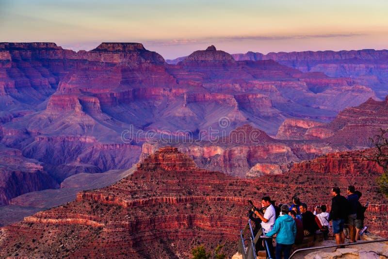 Puesta del sol del punto de Yavapai, Grand Canyon imagen de archivo libre de regalías