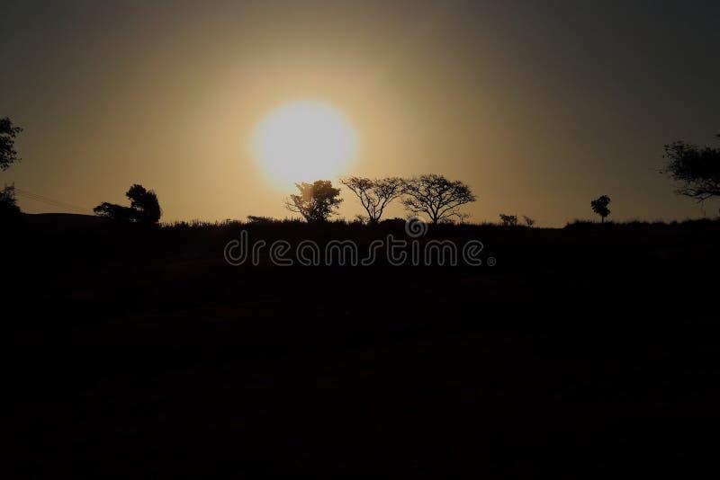 Puesta del sol Ridge fotografía de archivo