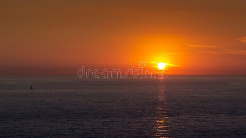 Puesta del sol simple y hermosa foto de archivo libre de regalías
