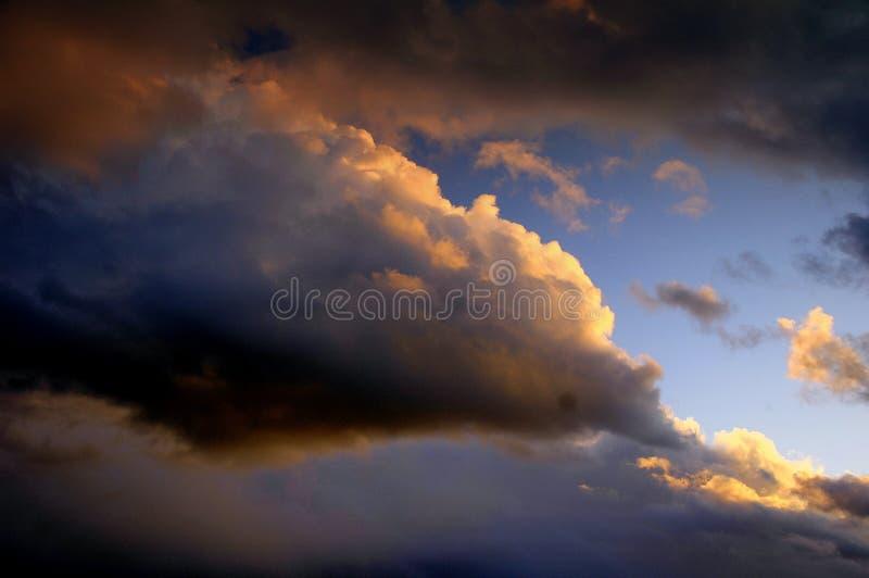 Puesta del sol Skyscape imágenes de archivo libres de regalías