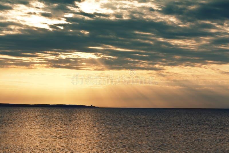 Puesta del sol soñadora fotografía de archivo