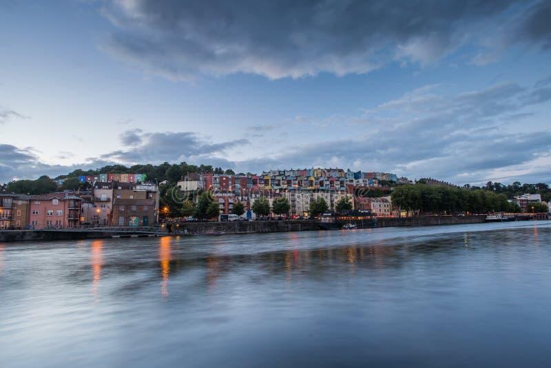 puesta del sol sobre Bristol foto de archivo