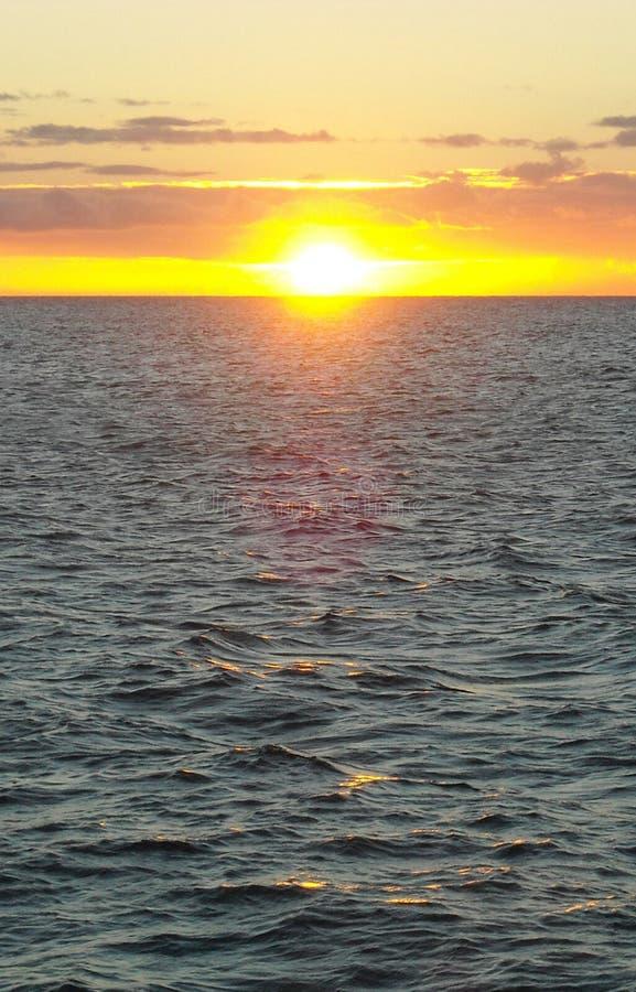 Puesta del sol sobre el lago Michigan fotos de archivo libres de regalías