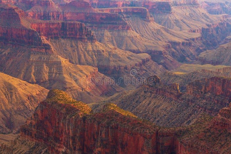 Puesta del sol sobre Grand Canyon, borde del norte imágenes de archivo libres de regalías