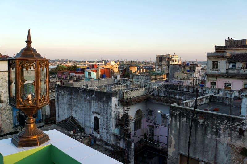 Puesta del sol sobre La Habana fotografía de archivo