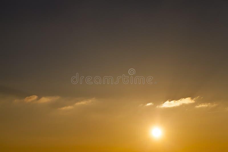 Puesta del sol Sun imagenes de archivo