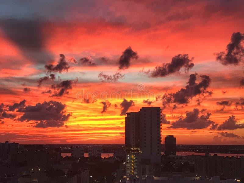 Puesta del sol West Palm Beach fotografía de archivo