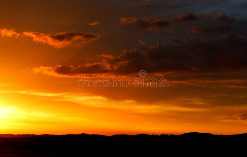 Puestas del sol foto de archivo libre de regalías