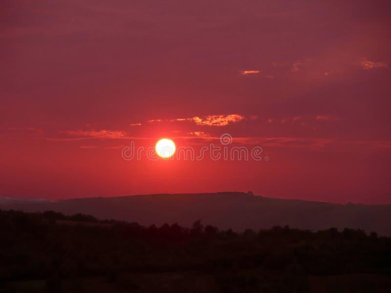Puestas del sol foto de archivo