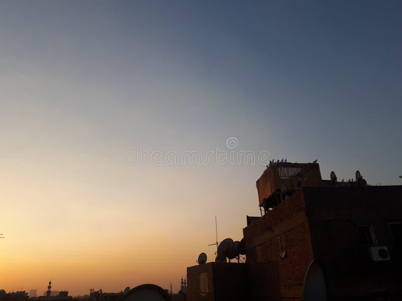 Puestas del sol de la tarde fotos de archivo libres de regalías