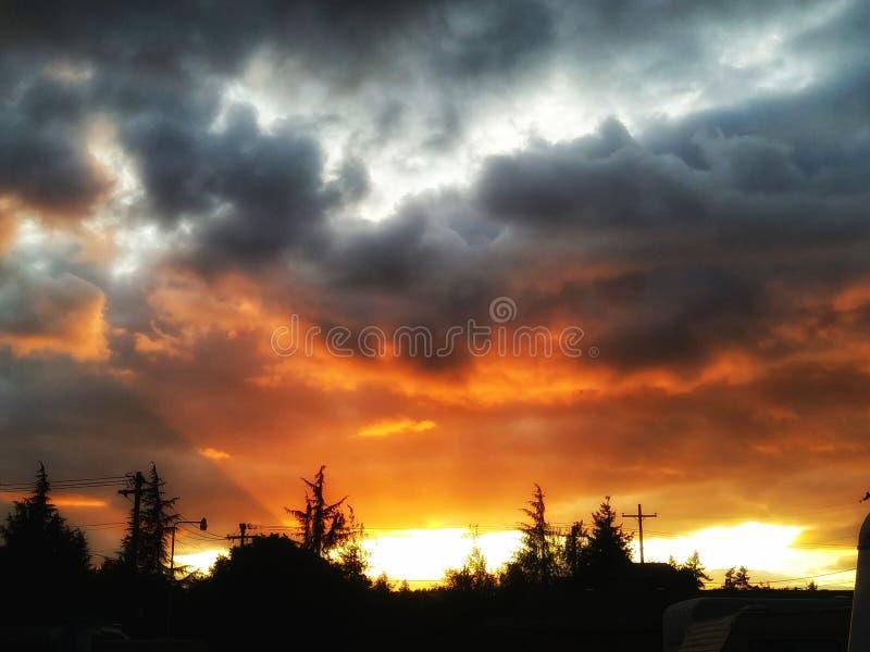 Puestas del sol de Oregon imagen de archivo