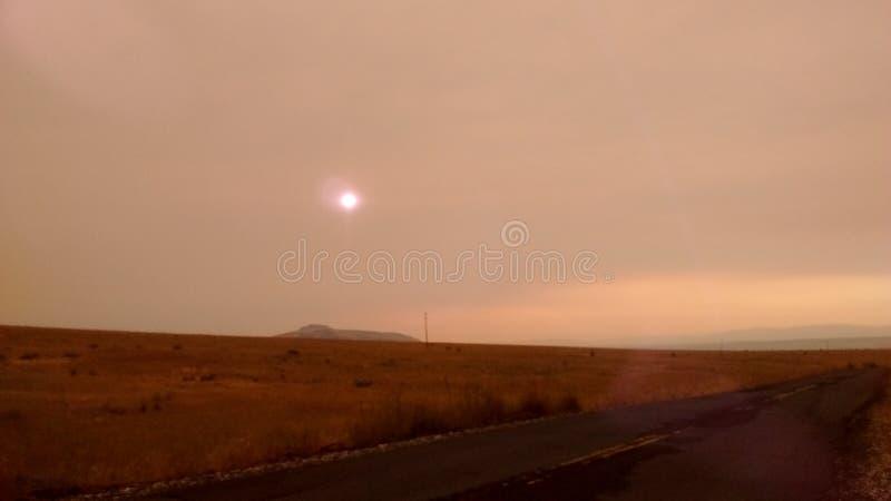 Puestas del sol sobre Madras, Oregon fotografía de archivo libre de regalías