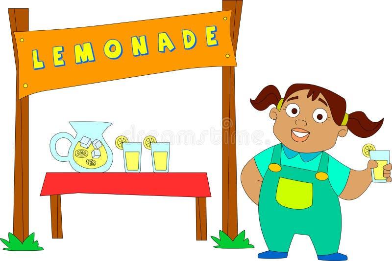 Puesto de limonadas ilustración del vector