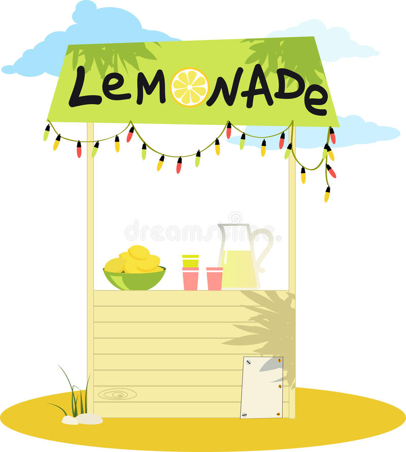 Puesto de limonadas stock de ilustración