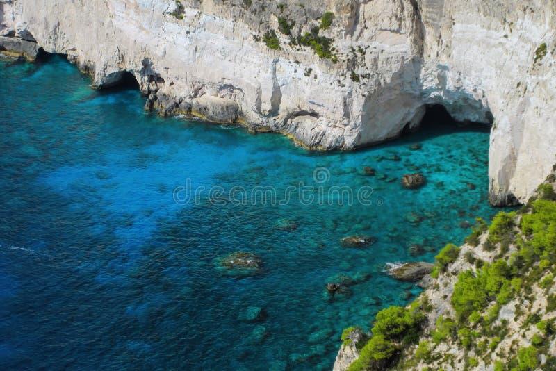 Puesto de observación asombroso en el cabo de Keri, Zakynthos, Grecia foto de archivo libre de regalías