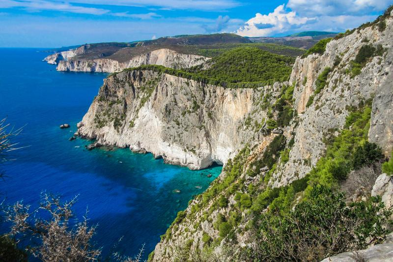 Puesto de observación asombroso en el cabo de Keri, Zakynthos, Grecia imágenes de archivo libres de regalías
