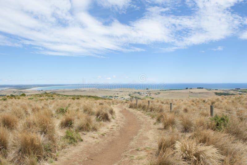 Puesto de observación del océano de Stanley Tasmania sobre Bass Strait fotos de archivo libres de regalías