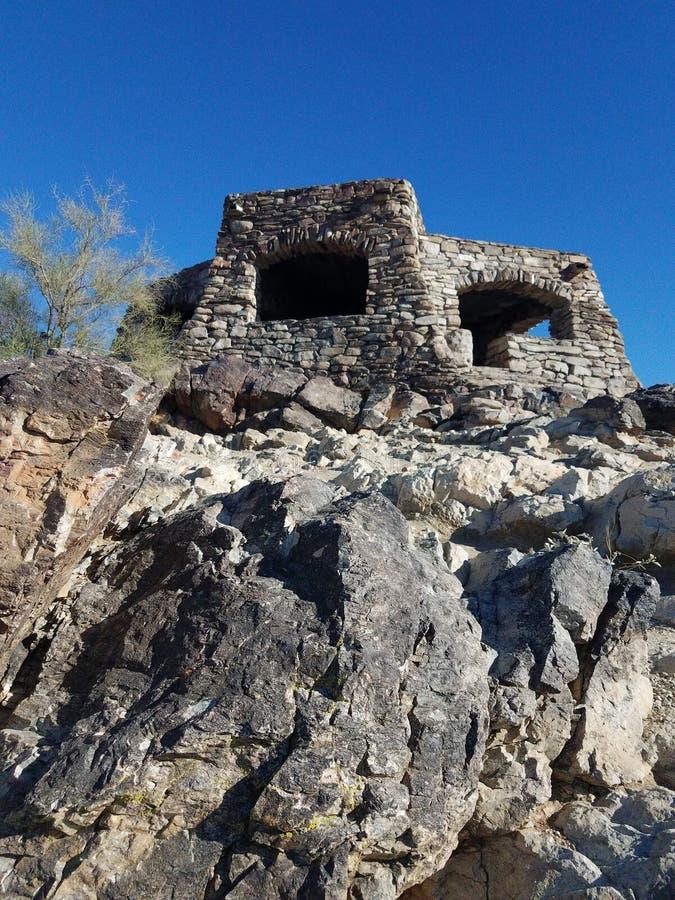 Puesto de observación de los caballos de labor; Montaña del sur Phoenix, AZ fotos de archivo libres de regalías