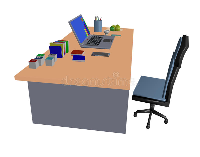 puesto de trabajo del ordenador portátil imagenes de archivo
