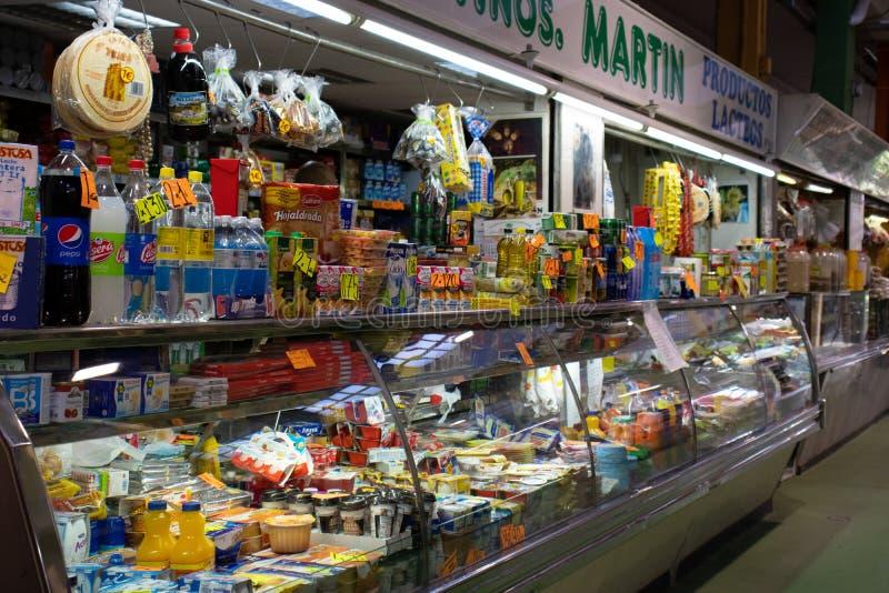 Puesto en el mercado de Atarazanas 库存图片
