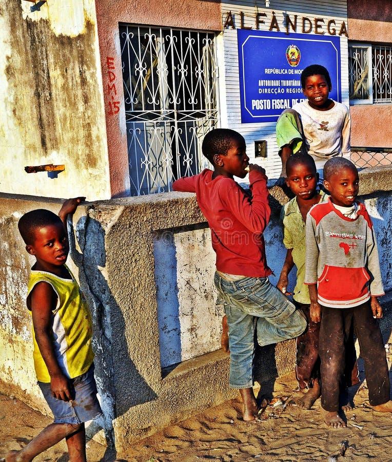 Puesto fronterizo de Malawi/de Mozambique imagen de archivo libre de regalías