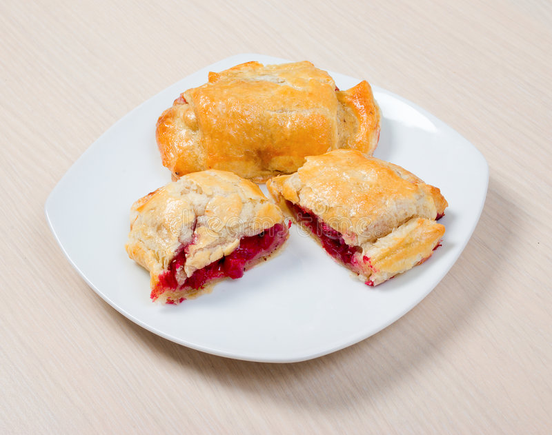 Download Puff Ham With Cranberry And Apple Stock Image - Image: 9130801