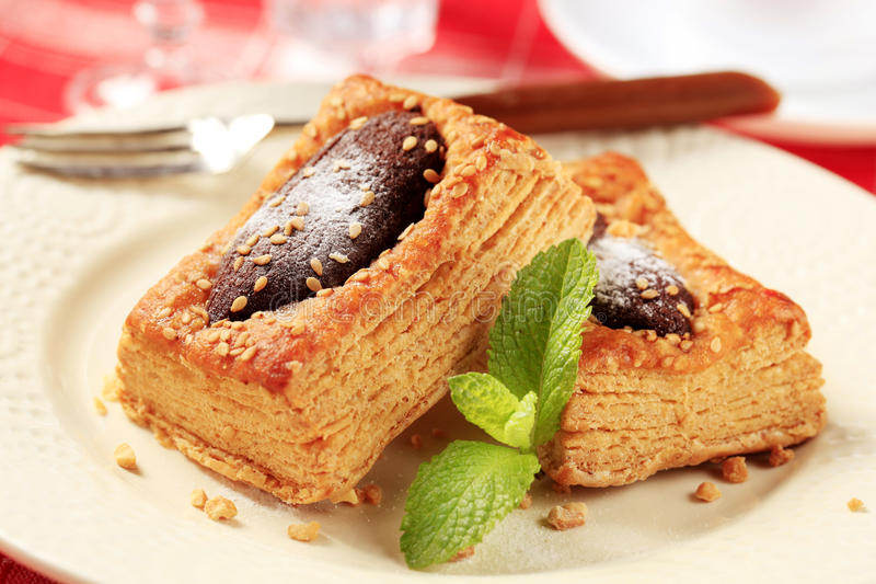 Puff pastry royalty free stock images