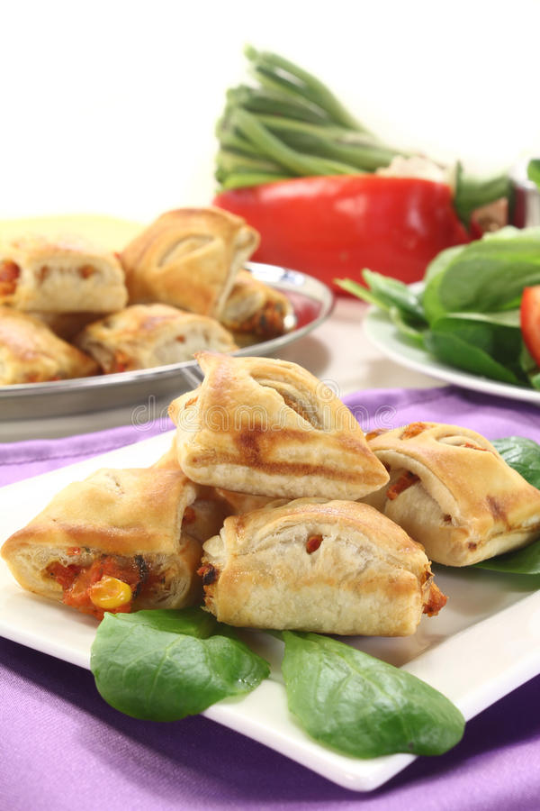 Download Puff pastry stock photo. Image of canape, nutrition, lamb - 25327682