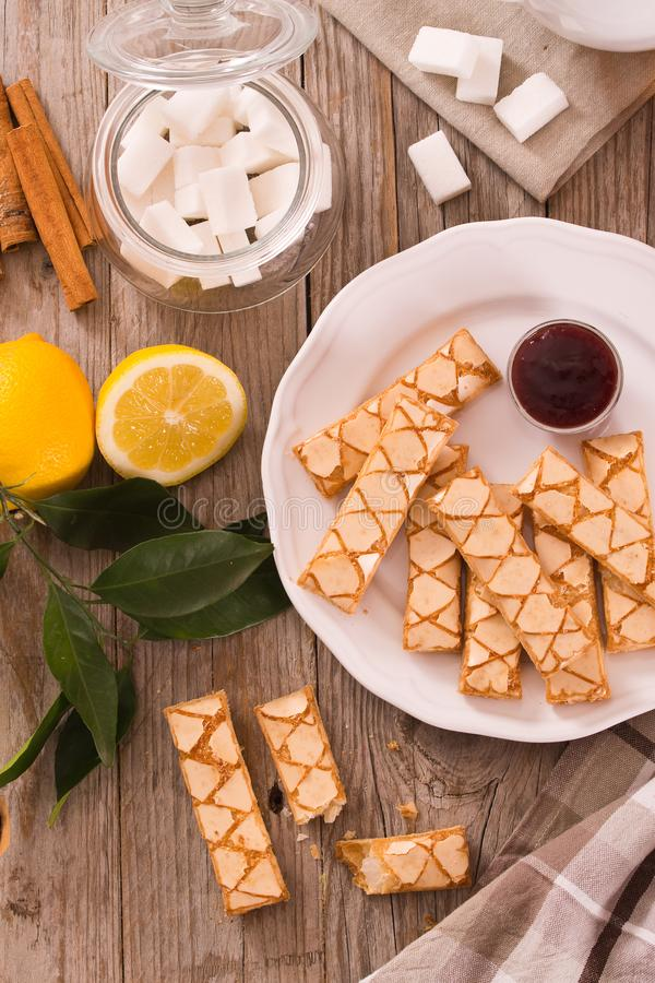 Puff pastry cookies. stock photos