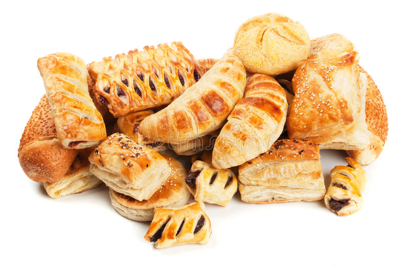 Puff pastry isolated on white