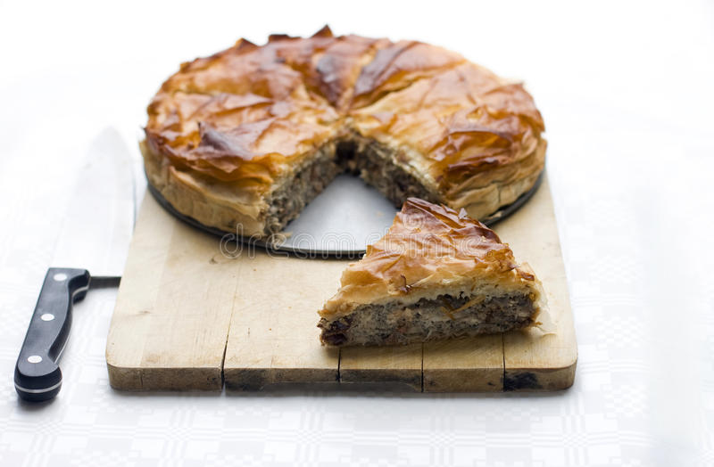 Puff pastry pie royalty free stock image