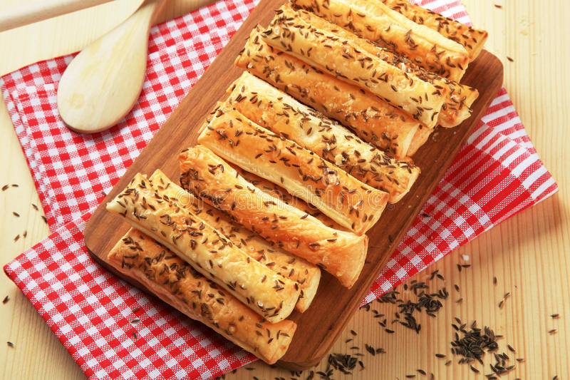 Puff Pastry Straws stock photos