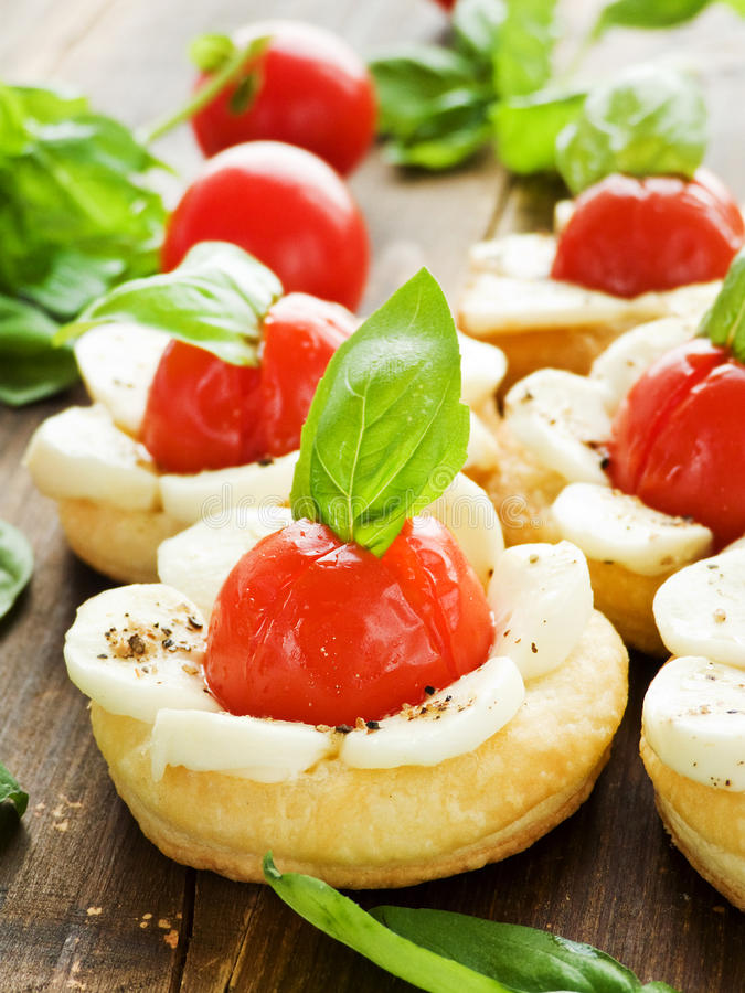 Download Puff-pizzas stock image. Image of cherry, spice, food - 33318519
