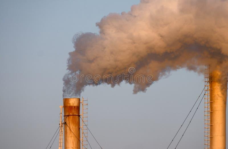 Puff of smoke stock photo