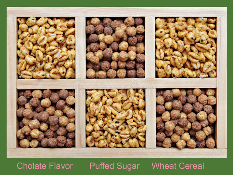 Download Puffed And Chocolate Flavor Cereal Stock Photo - Image: 28324564