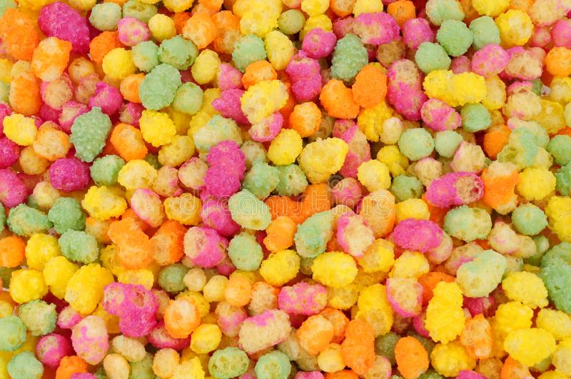 Puffed Maize And Rice Confectionery Background stock photos