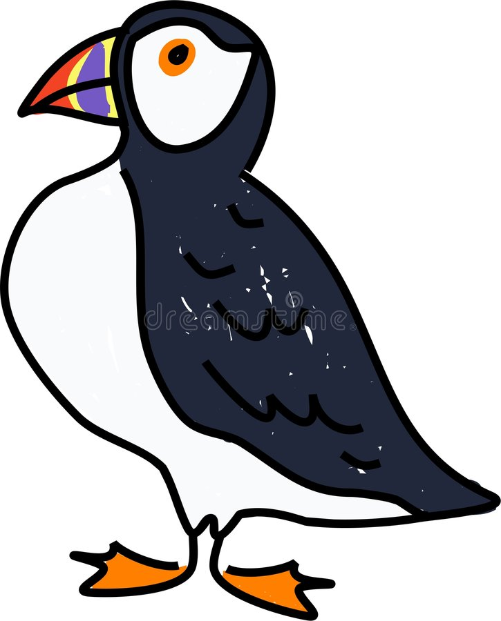 Puffin royalty free illustration